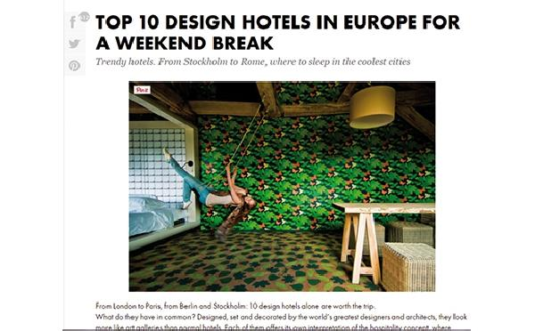 Elle d cor top 10 design hotels in europe the 1 has for Top design hotels in europe