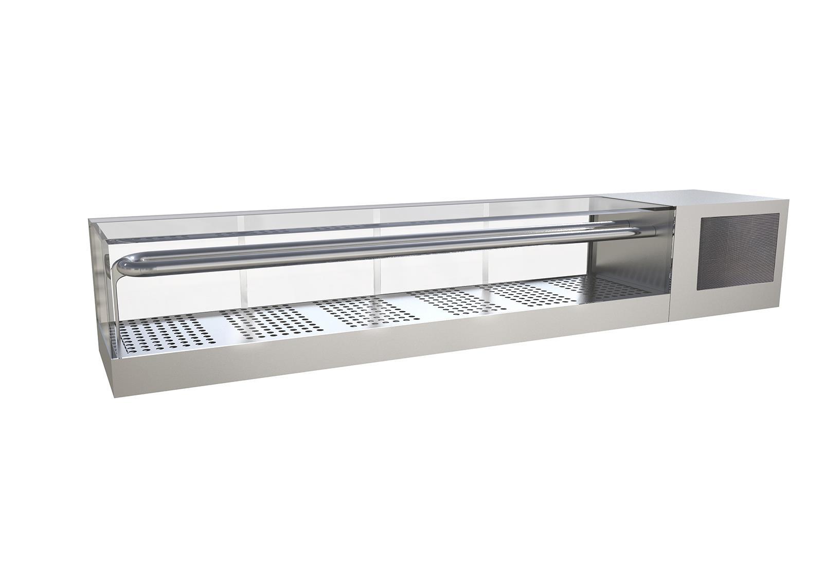 Sashimi integral refrigerated display